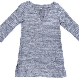 J. Crew Light Gray Tunic Top